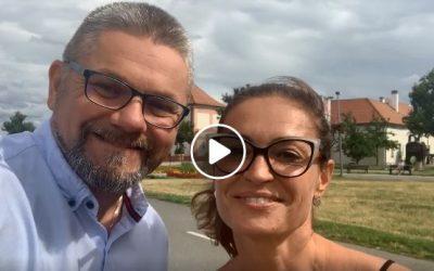 Moderátoři letošního ročníku (URO)logických kroků ke zdraví Hanka Kynychová a Josef Melen se na vás těší opět na Ladronce!